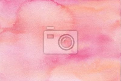 hand painted watercolor background texture pink ombre