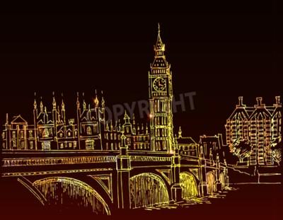 handgezeichnete Landschaft der Stadt