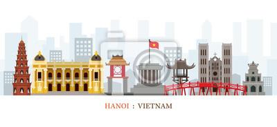 Hanoi Vietnam Wahrzeichen Skyline