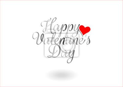 Happy Valentine's Day, Heart Illustration. Wording Design, Art design