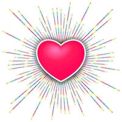 Sticker Happy Valentines Day Celebration Hintergrund