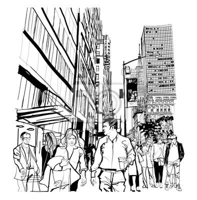 Hauptverkehrszeit auf der 5th Avenue in Manhattan