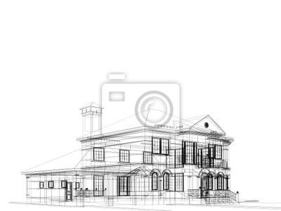 Haus in weißem Hintergrund