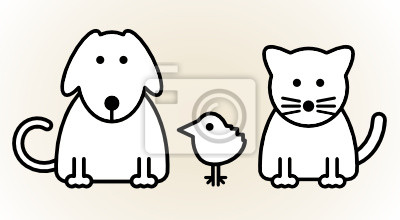 Haustiere, Vektor-Illustration