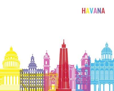Sticker Havanna-Skyline-Pop