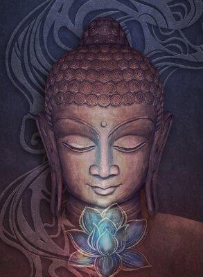 Sticker Head Smiling Buddha
