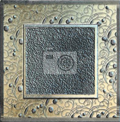 Heavy-Metal-Grunge-Rahmen - Relief, starke Textur