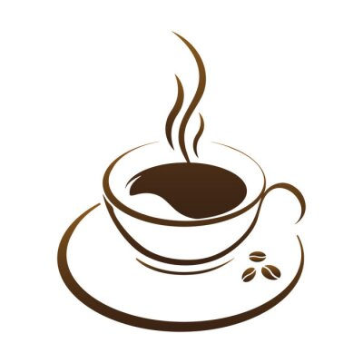 Sticker Heiße Tasse Kaffee