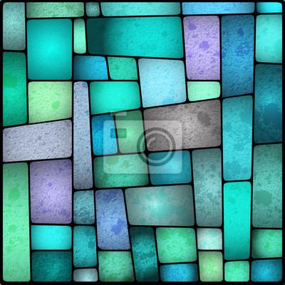 Sticker Hell und farbenfroh gefärbt galss Fenster
