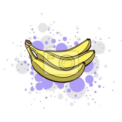 Sticker Helle saftige Banane