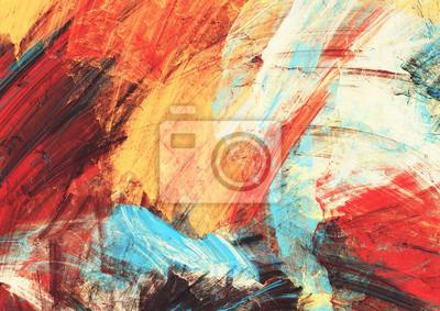 Sticker Helles künstlerisches spritzt auf Weiß. Abstrakte Malerei Farbtextur. Modernes futuristisches Muster. Dynamischer Mehrfarbenhintergrund. Fraktalgrafik für kreatives Grafikdesign.