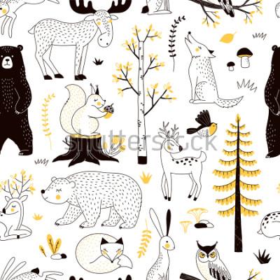 Sticker Herbstwaldmuster