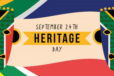 Sticker heritage day poster