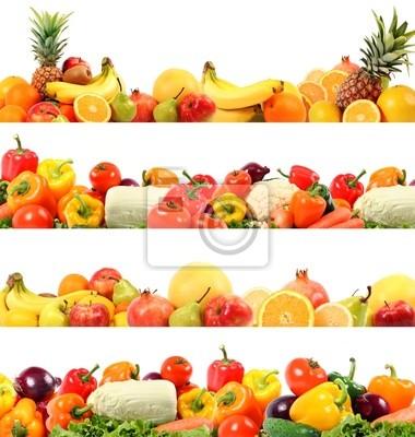 herrlichen Gemüse-und Obst Zusammensetzung hochwertigen