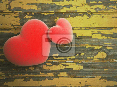 Herz mit Holz Hintergrund