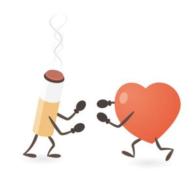 Herz und Zigarettenkampf