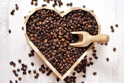 Sticker Herz von Kaffeebohnen