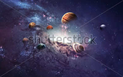 Sticker High resolution images presents creating planets of the solar system. This image elements furnished by NASA.