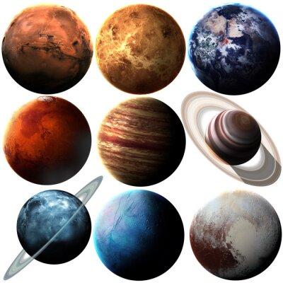 Sticker Hight Qualität isoliert Sonnensystem Planeten. Elemente dieses Bildes von der NASA eingerichtet
