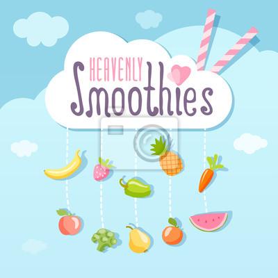 Himmlisches Smoothie Logo-Konzept.