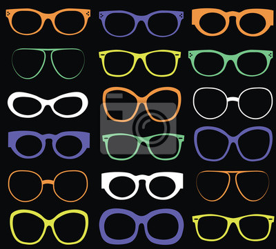 Hintergrund aus bunten Sonnenbrillen