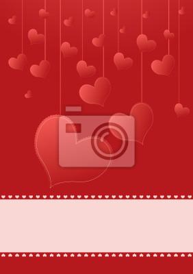 Hintergrund für Valentinstag mit Herzen und Platz für Text