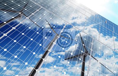 Sticker Hintergrund grüne Energie