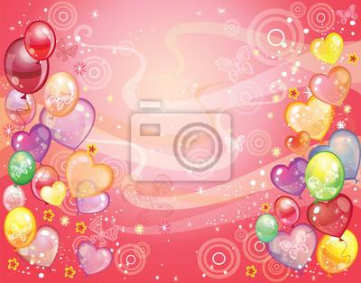 Hintergrund mit balloons_red