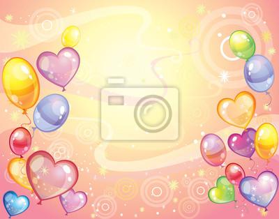 Hintergrund mit balloons_rose