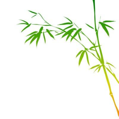 Sticker Hintergrund mit Bambuszweigen
