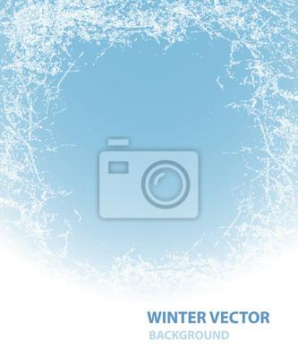 Sticker Hintergrund mit Reif für den Winterurlaub