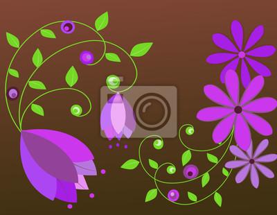 Hintergrund von Blumen.