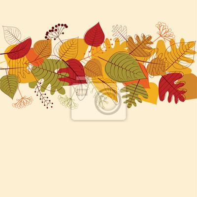 Hintergrund von nahtlosen Herbstlaub