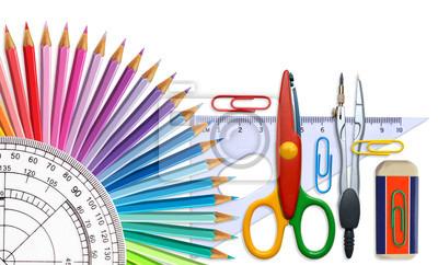 Hintergrund von Schulmaterial