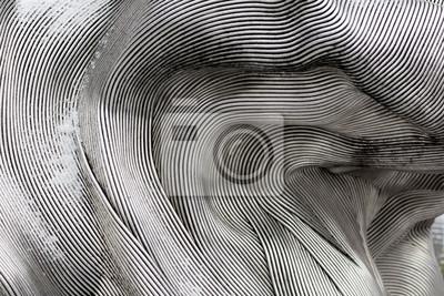 Sticker Hintergrundbeschaffenheit der glänzenden Metalloberfläche. Die gebogene Platte besteht aus Eisen.