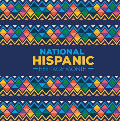 Sticker hispanic and latino americans culture, national hispanic heritage month in september and october vector illustration design