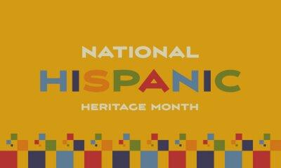 Sticker Hispanic Heritage Month background. Poster, card, banner