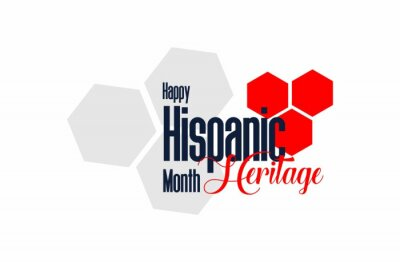 Sticker Hispanic heritage month. Holiday concept. Template for background, banner, card, poster with text inscription. Vector EPS10 illustration