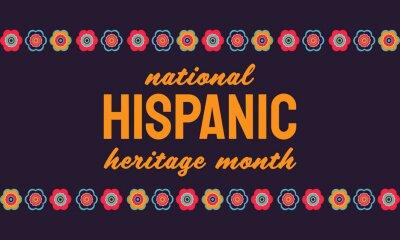 Sticker Hispanic Heritage Month poster, card, background