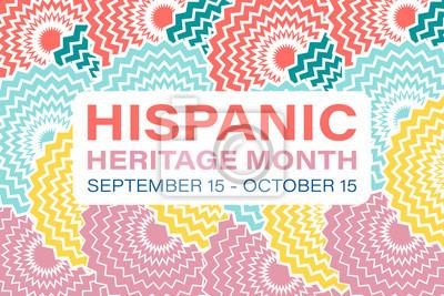 Sticker Hispanic Heritage Month September 15 - October 15. Background, poster, greeting card, banner design.