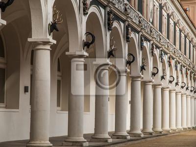 Sticker Historische Kloster in Dresden (Deutschland)