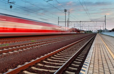 Sticker Hochgeschwindigkeitszug in Station