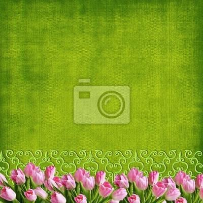 Hochzeits-oder Ostern Tulpen backgound