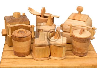 Hölzerne Küche-Set
