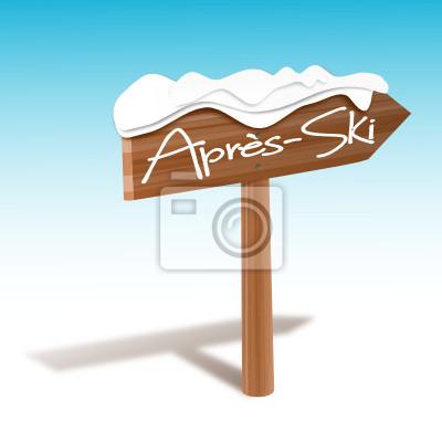 Holzschild Apres Ski