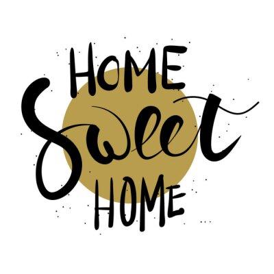 Sticker Home süße Hause Hand Schriftzug.
