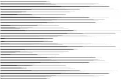 Sticker Horizontales Geschwindigkeitslinie Halbtonmuster mit Steigungseffekt. Vorlage für Hintergründe und stilisierte Texturen.