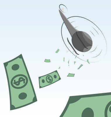Hubschrauber Geld