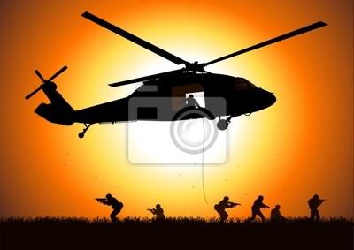 Hubschrauber sinkt Truppe