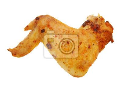 Hühnerflügel lokalisiert auf weißem Hintergrund
